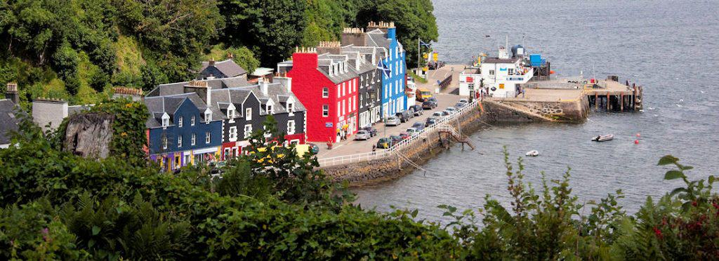 The colorful fishing village of Tobarmory on the Isle of Mull in North West Scotland