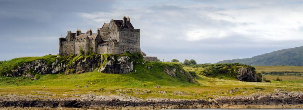 Duart Castle in daylight, Isle of Mull, Scotland